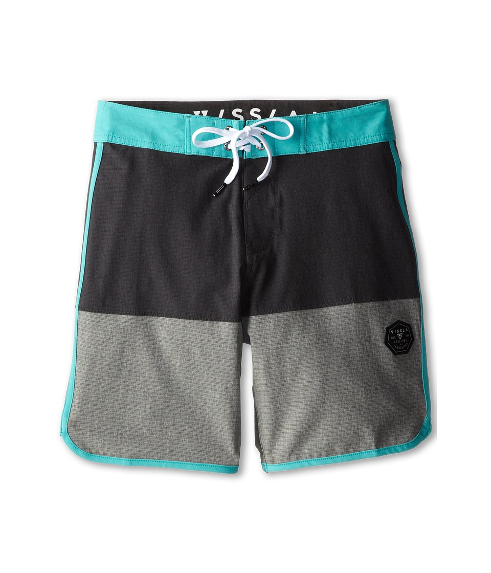 VISSLA Kids - Cannon Balls Boardshort (Big Kids) (Jade) Boy's Swimwear