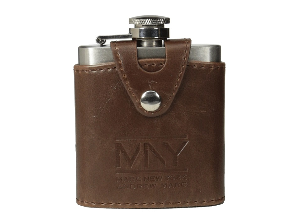 Marc New York by Andrew Marc - 3.5 oz Flask (Brown) Glassware Cookware