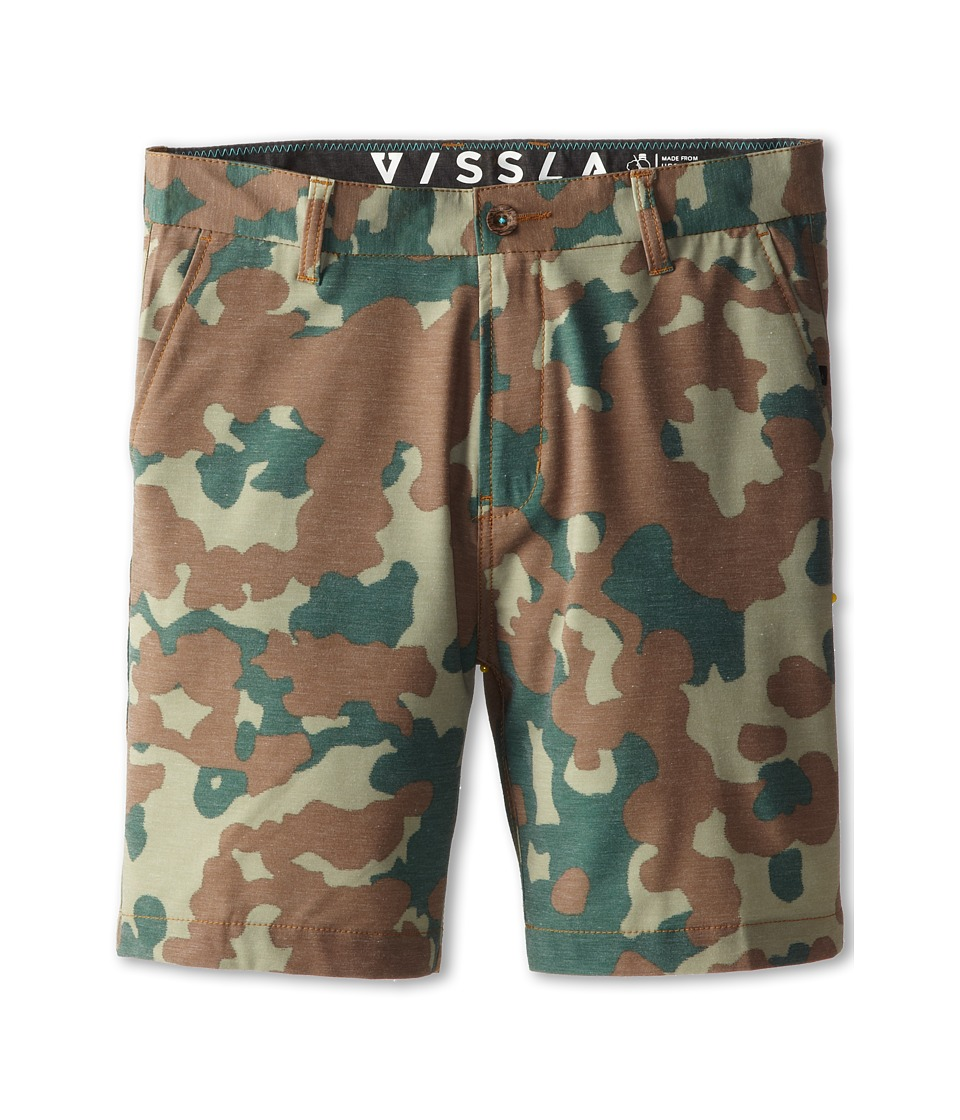 VISSLA Kids - High Tide Hybrid Walkshort (Big Kids) (Tobacco) Boy's Shorts
