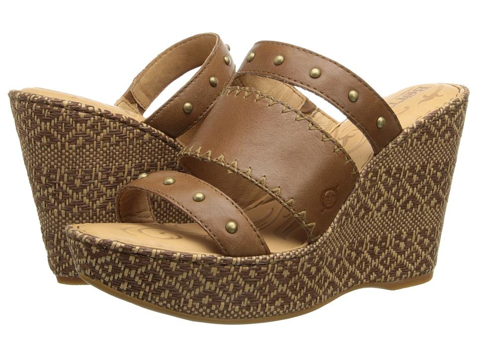 Born - Borini (Golden Sand (tan) Full-Grain Leather) Women's Wedge Shoes