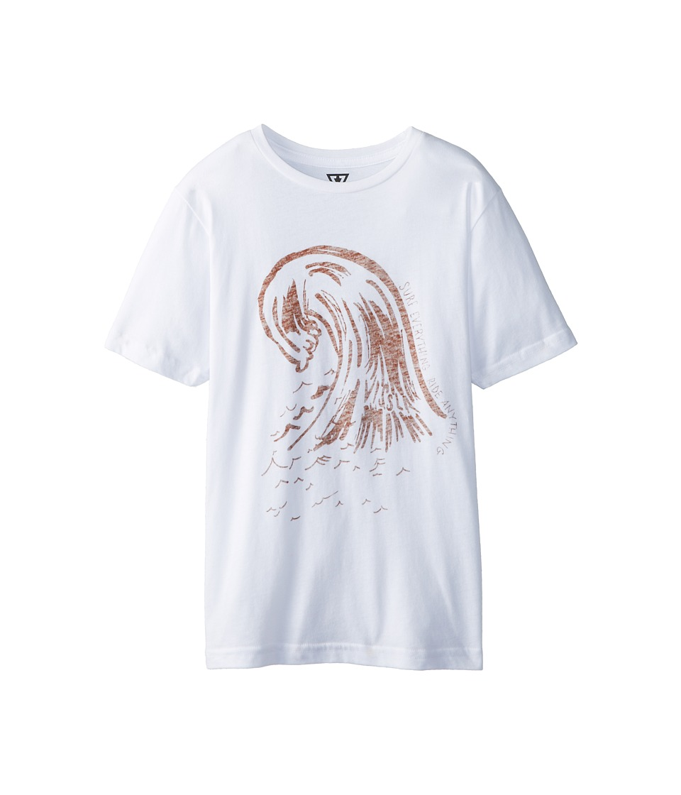VISSLA Kids - Everything S/S Tee (Big Kids) (White) Boy