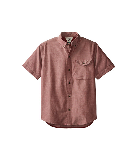 VISSLA Kids - Stohk 7 S/S Woven (Big Kids) (Blood) Boy's Clothing