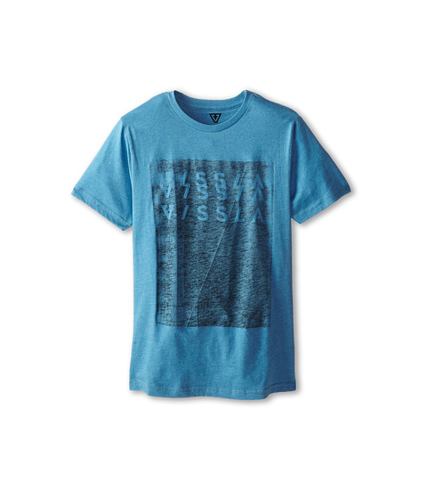 VISSLA Kids - Toner S/S Tee (Big Kids) (Blue Wash Heather) Boy's T Shirt