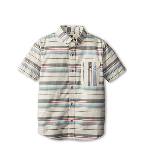VISSLA Kids - Vado S/S Woven (Big Kids) (Bone) Boy