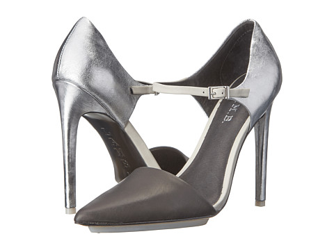 L.A.M.B. - Will (Black/Silver Crackle Metallic/Leather) High Heels