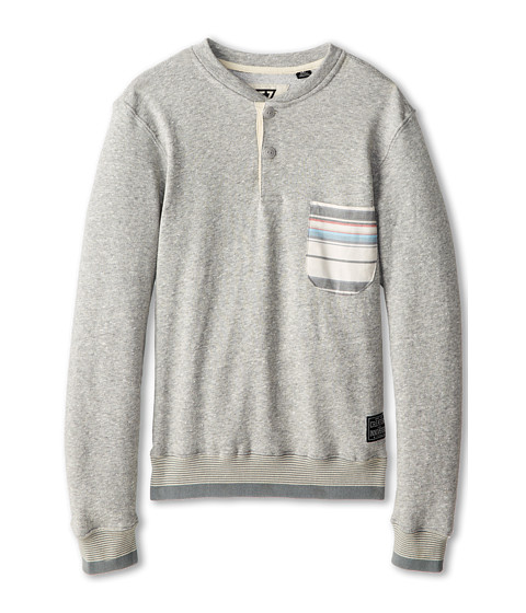 VISSLA Kids - Avado Crew Fleece (Big Kids) (Light Grey) Boy