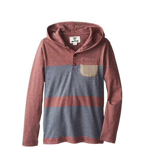 VISSLA Kids - Shore Fast Hoodie (Big Kids) (Blood) Boy's Long Sleeve Pullover
