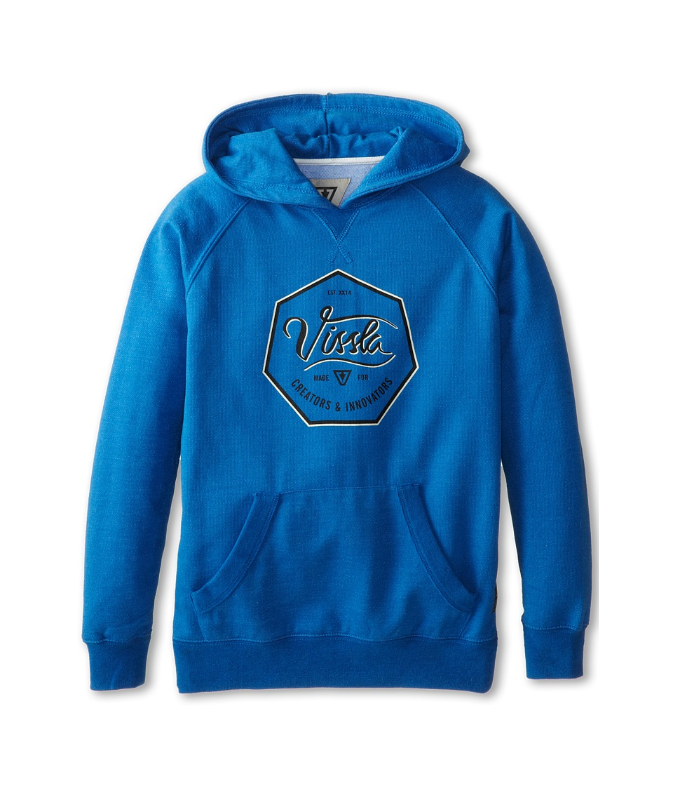 VISSLA Kids - 7 Sides Hoodie (Big Kids) (Royal Wash Heather) Boy