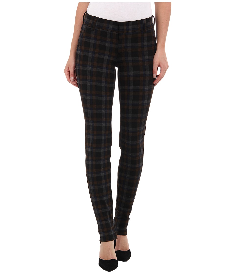KUT from the Kloth - Trouser Plaid Ponte Skinny (Brown/Black) Women's Casual Pants