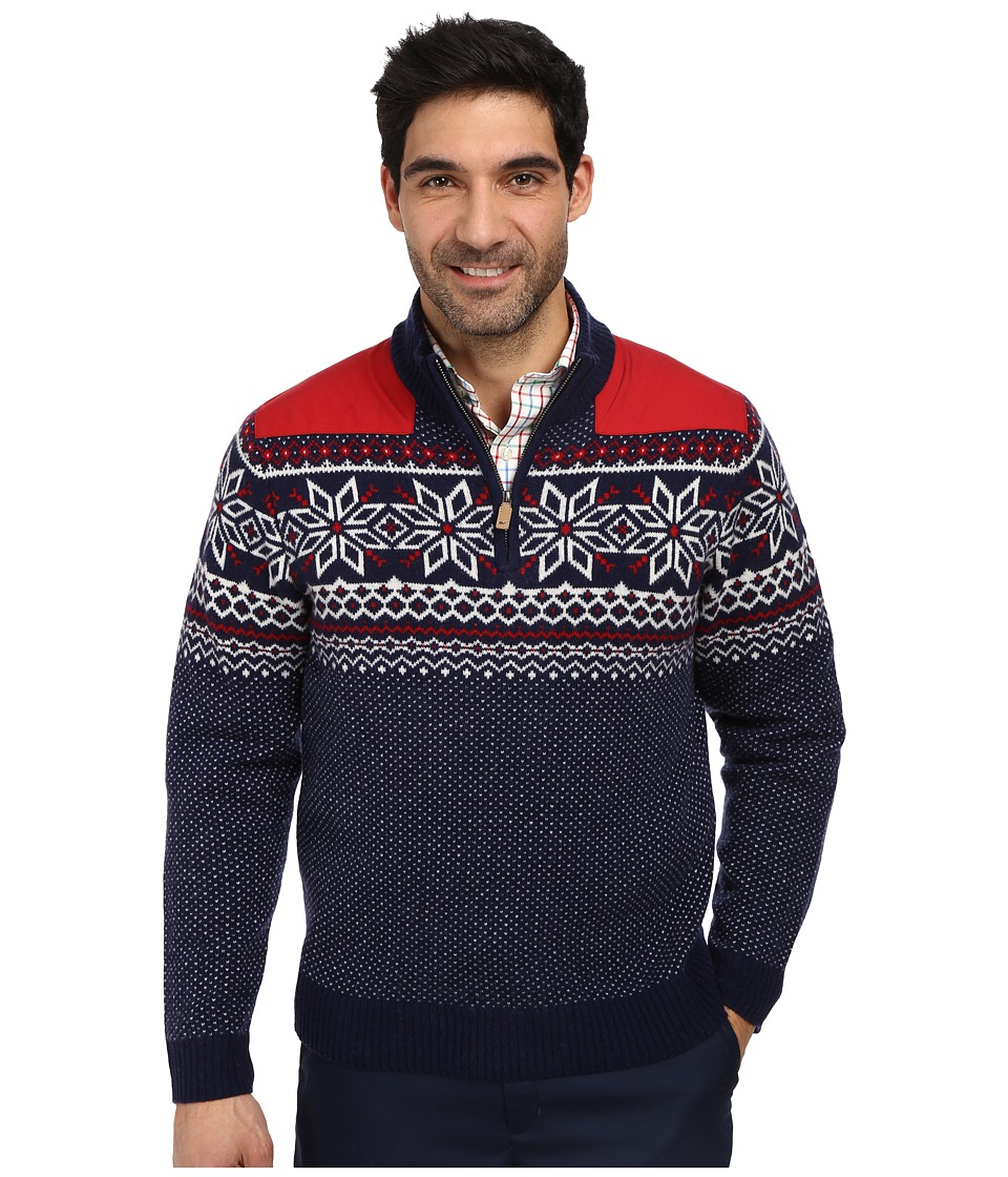 Vineyard Vines - Fairfield Snowflake Fairisle (Nautical Navy) Men's Long Sleeve Pullover