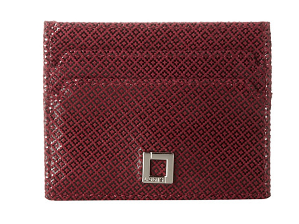 Lodis Accessories - Anderson Patti Mirror Card Case (Red) Credit card Wallet