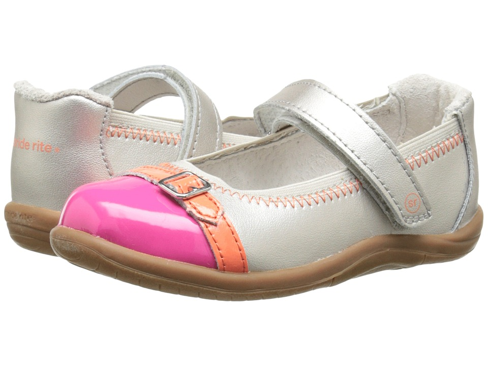 Stride Rite - SRT Chandra (Toddler) (Warm Silver/Pink) Girl's Shoes
