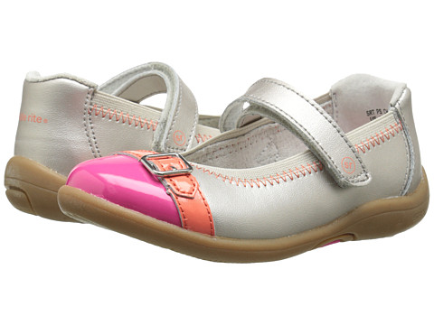 Stride Rite - SRT PS Chandra (Toddler/Little Kid) (Warm Silver/Pink) Girls Shoes