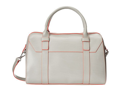 Lodis Accessories - Audrey Camille Satchel (Grey/Coral) Satchel Handbags