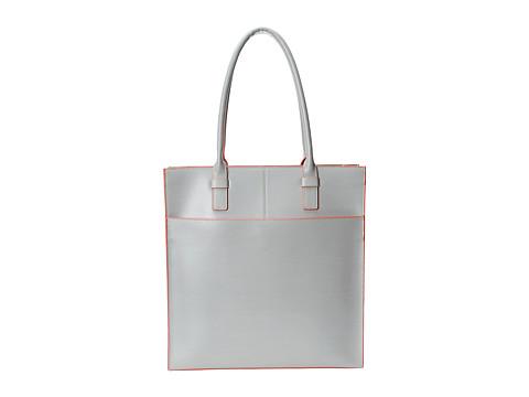 Lodis Accessories - Audrey Liat Tote (Grey/Coral) Tote Handbags