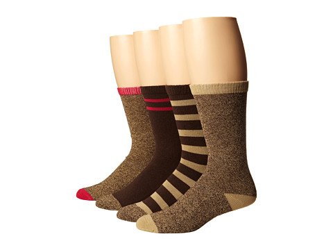Steve Madden - 4 Pack Marl and Solid Boot Sock (Chocolate/Khaki) Women's Knee High Socks Shoes