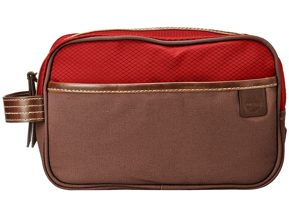 Timberland - Canvas/Nylon Travel Kit (Red) Wallet