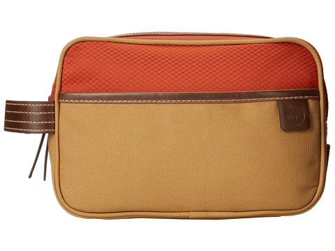 Timberland - Canvas/Nylon Travel Kit (Orange) Wallet