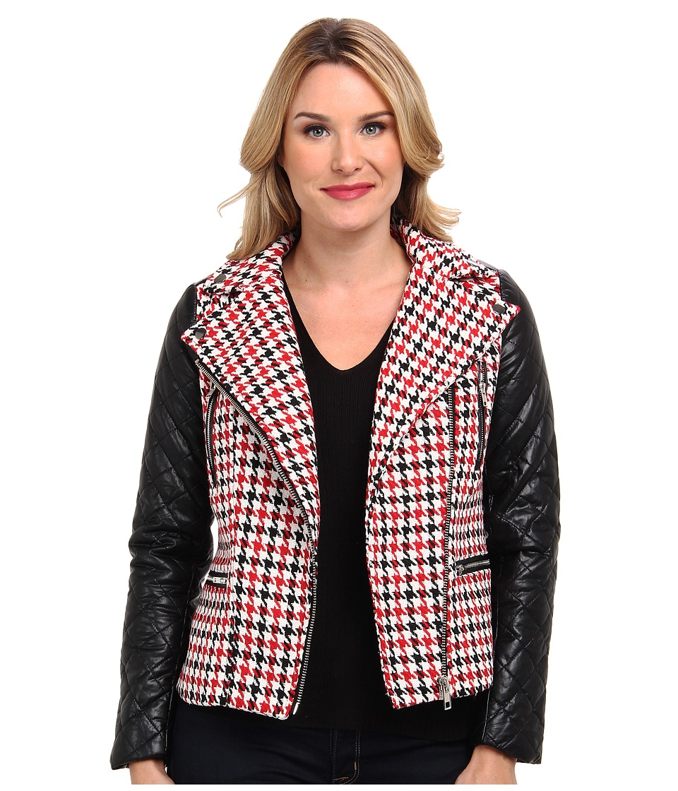 KUT from the Kloth - Plaid Pu Jacket (Red) Women's Coat