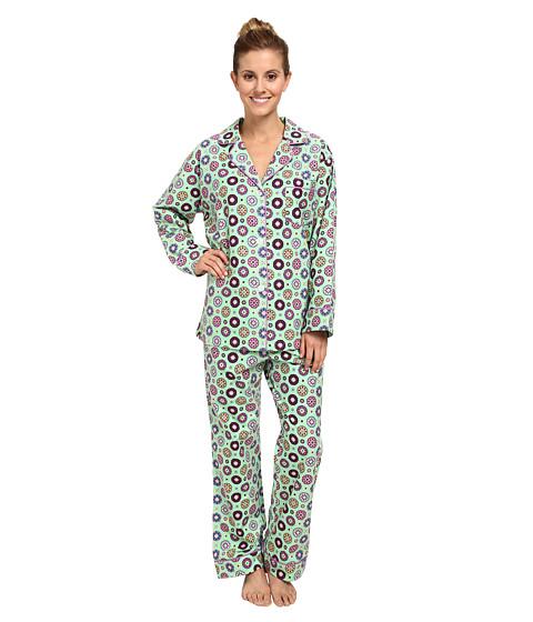 BedHead - Classic Flannel PJ (Green Shangri-La) Women's Pajama Sets