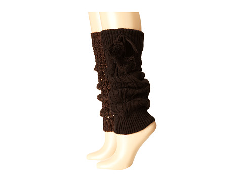 Steve Madden - Pompom and Rib Sequins (Chocolate) Women's Knee High Socks Shoes