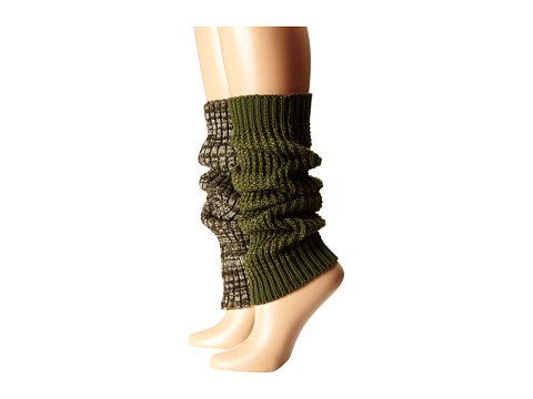 Steve Madden - Texture and Marl (Olive) Women's Knee High Socks Shoes
