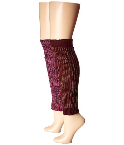 Steve Madden - Texture and Marl (Burgundy) Women's Knee High Socks Shoes