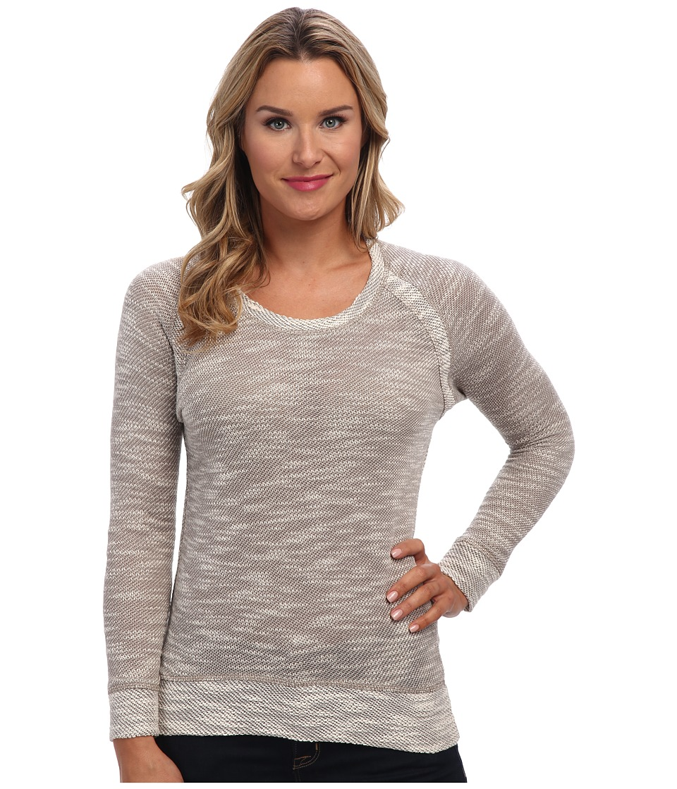 KUT from the Kloth - Scoop Neck Knit (Grey/White) Women's Long Sleeve Pullover