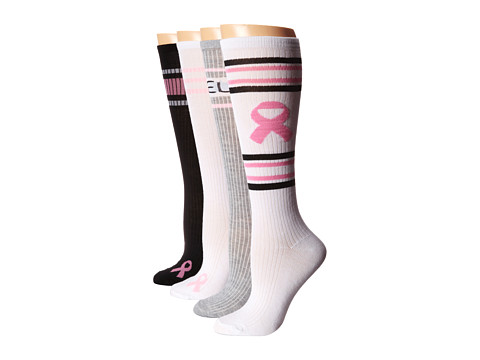Steve Madden - 4 Pack NBC Tube Knee High Sock (White/Black/Grey Heather) Women's Knee High Socks Shoes