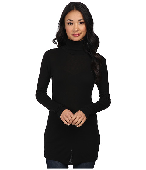 Michael Stars - Slub Long Sleeve Turtleneck Tunic (Black) Women