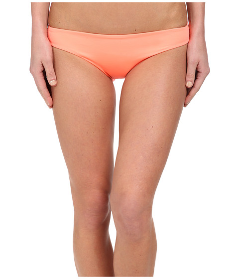 L*Space - Emma Two-Tone Bitsy Bottom (Electric Coral) Women's Swimwear