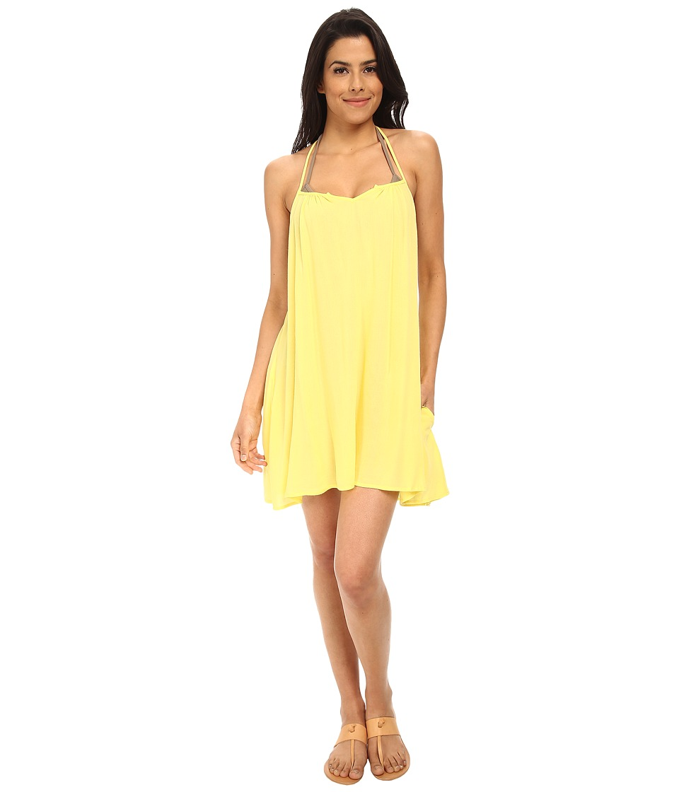 L*Space - Drifter Tunic Cover-Up (Yellow) Women's Swimwear