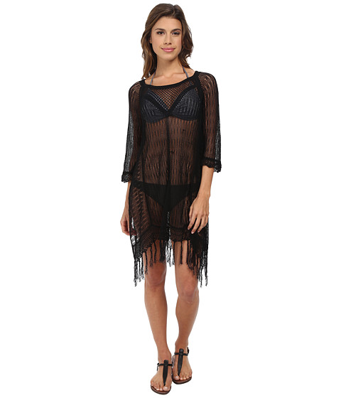 L*Space - Vista Beach Sweater Cover-Up (Black) Women's Swimwear