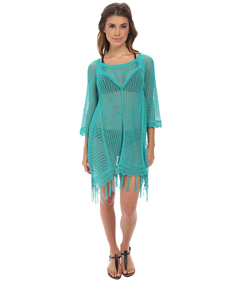 L*Space - Vista Beach Sweater Cover-Up (Peacock) Women's Swimwear