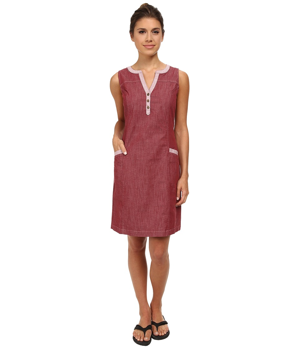 Royal Robbins - Strider Stretch Dress (Black Cherry) Women's Dress