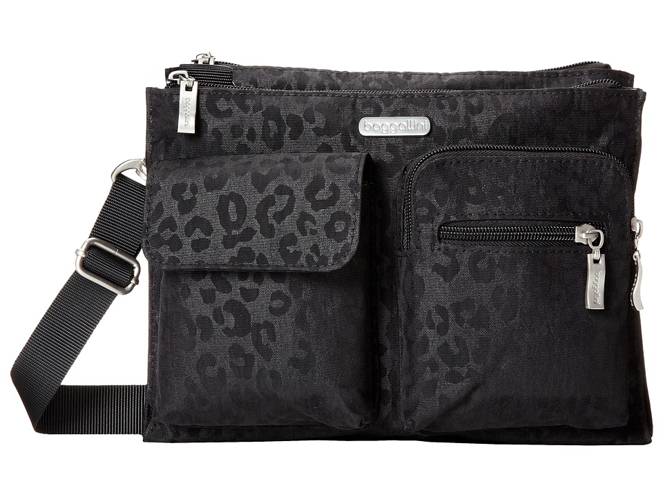 Baggallini - Everything Bag (Black/Cheetah) Bags