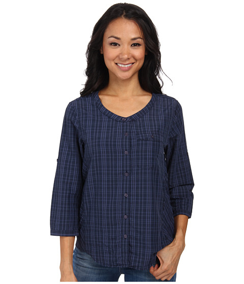 Toad&Co - Lightness Three-Quarter Sleeve Shirt (Deep Navy) Women's Short Sleeve Button Up