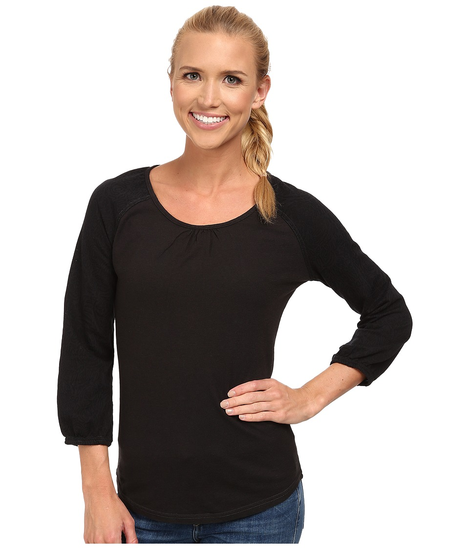 Royal Robbins - Breeze Thru 3/4 Sleeve (Jet Black) Women's Clothing