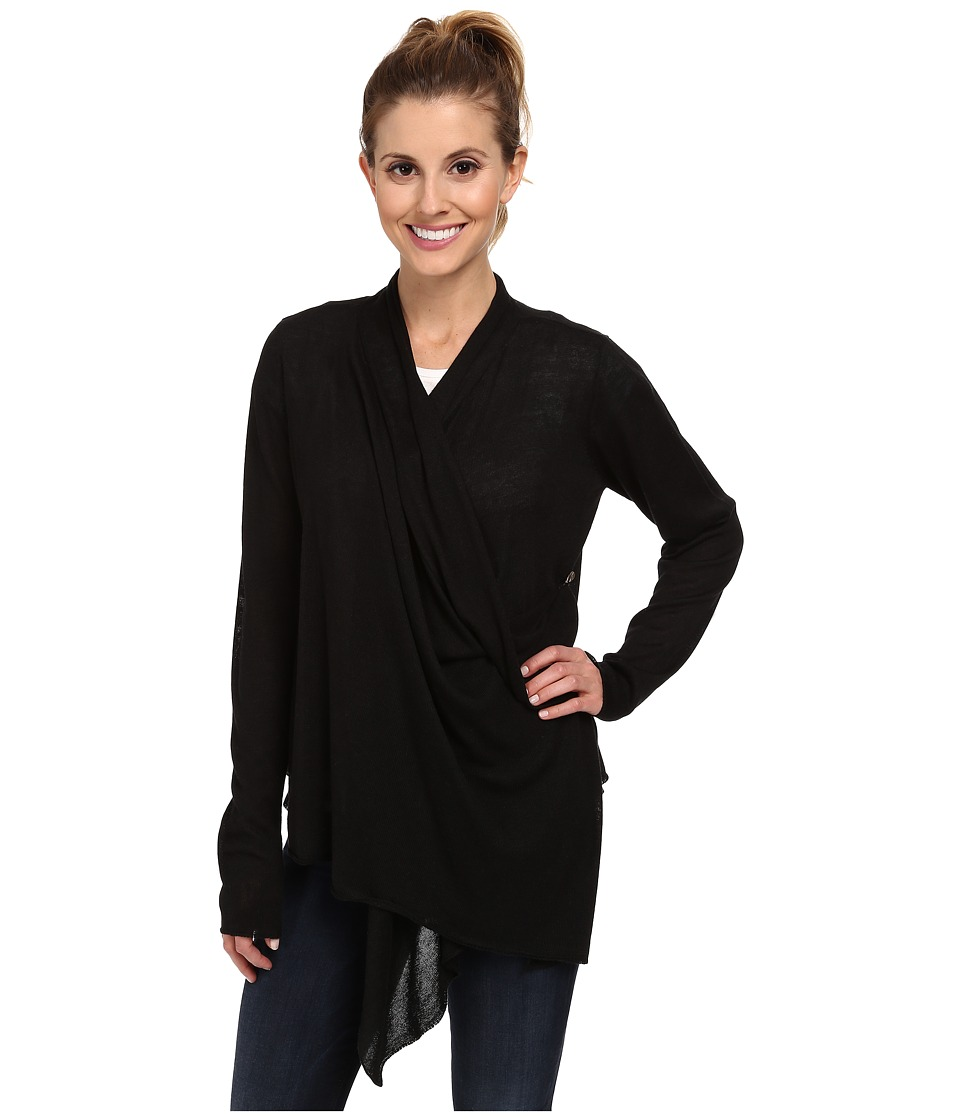 Royal Robbins - Lindsey Wrap Cardi (Jet Black) Women's Sweater