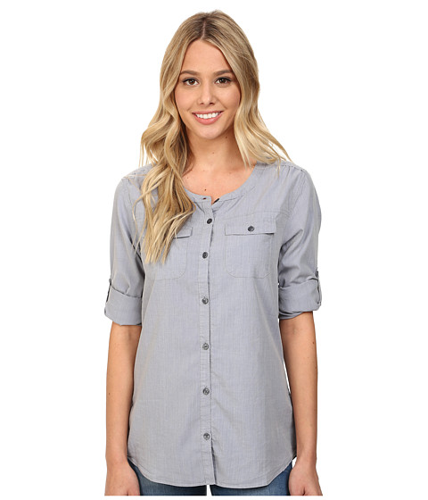 Toad&Co - Beryl L/S Shirt (Stom Grey) Women's Long Sleeve Button Up