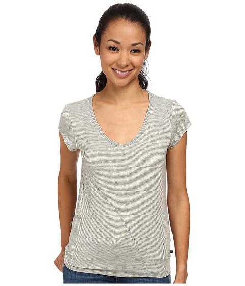 Toad&Co - Swifty S/S Tee (Lemondrop Stripe) Women's Short Sleeve Pullover