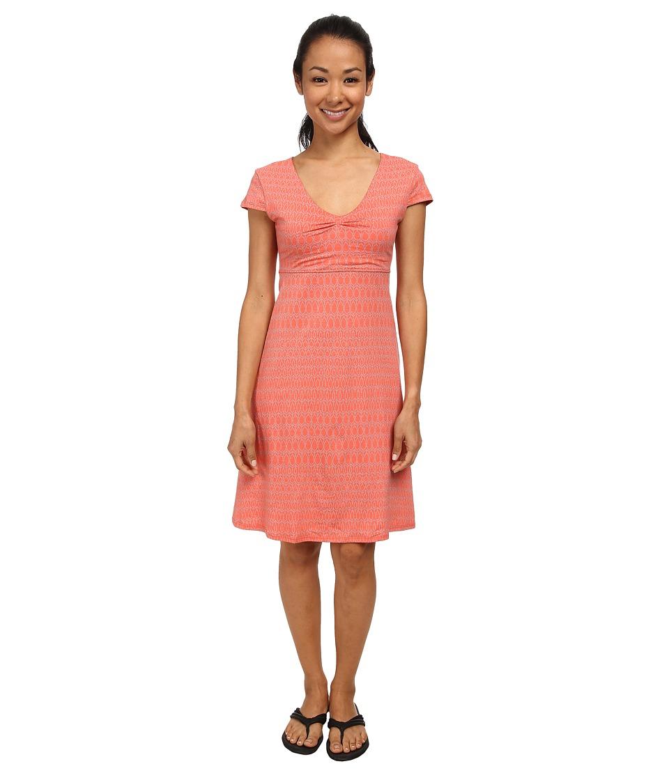 Toad&Co - Rosemarie Dress (Dark Coral Aspen Print) Women's Dress