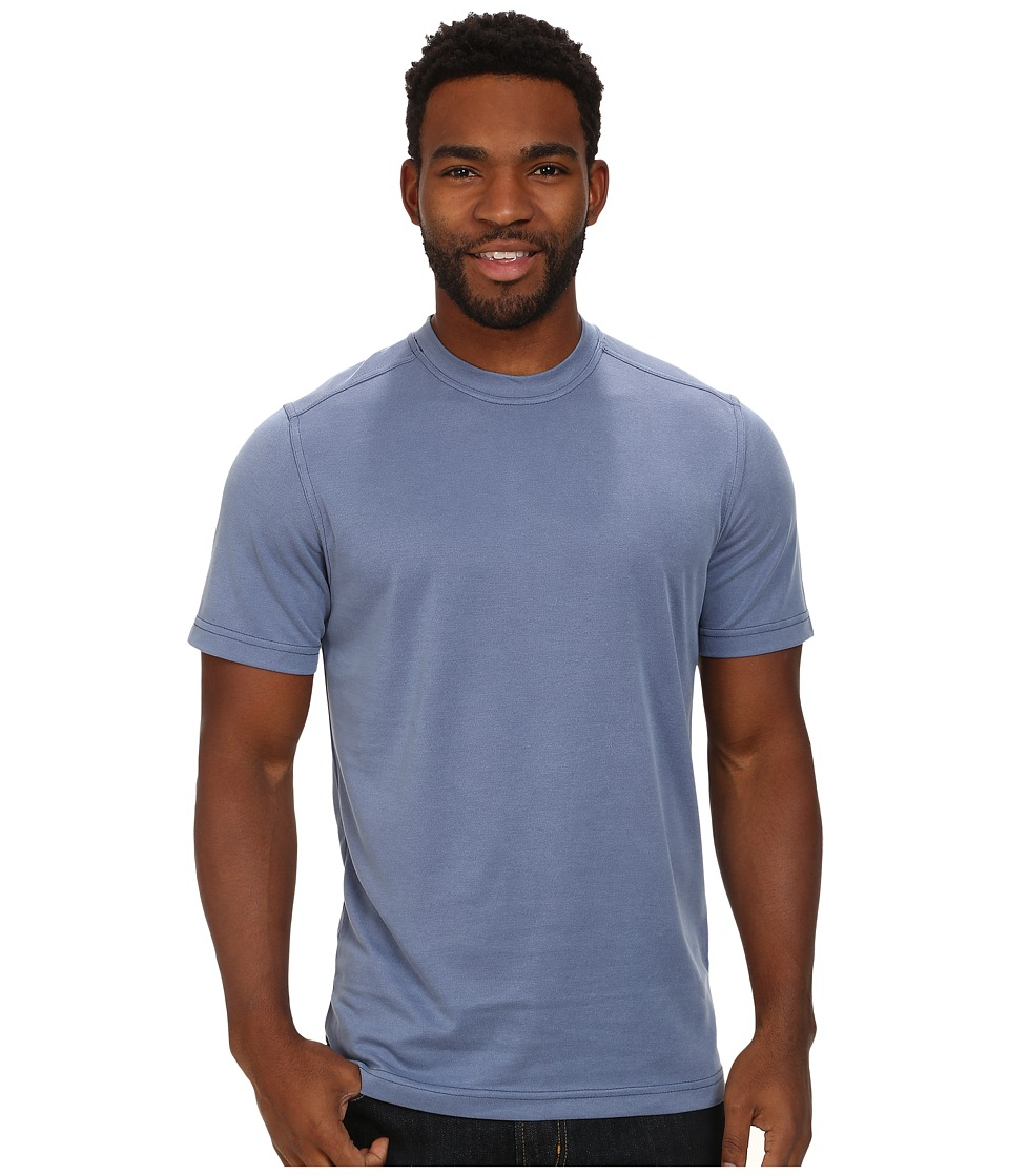 Royal Robbins - Desert Knit Pique Crew (Salvia Blue) Men's Short Sleeve Knit