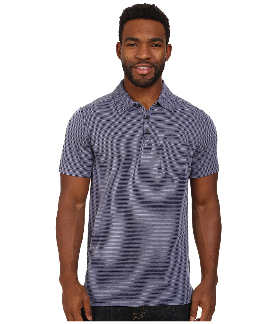 Royal Robbins Desert Knit Pique Stripe Cricket (Ink) Men