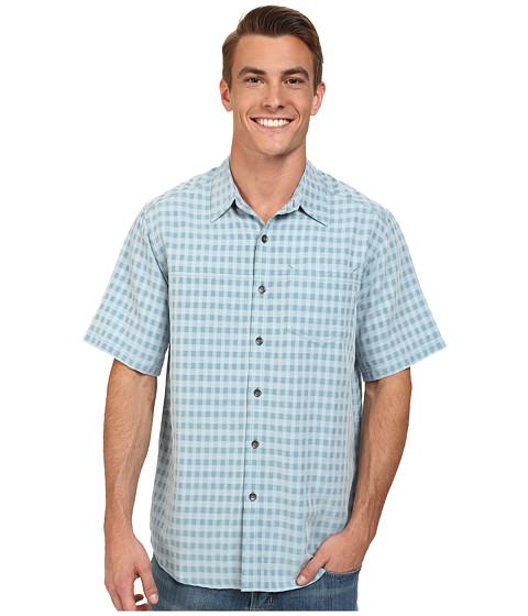 Royal Robbins - Kelso S/S (Scuba Blue) Men's Short Sleeve Button Up