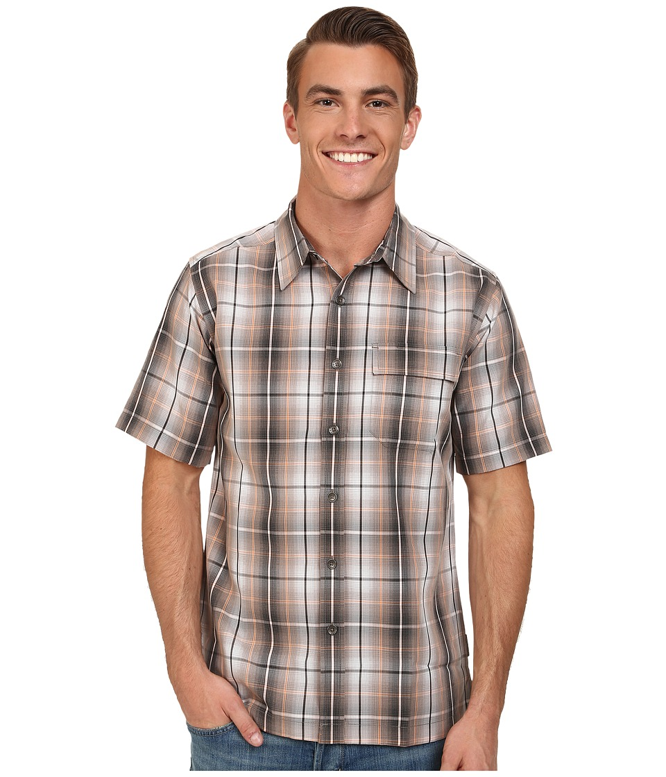 Royal Robbins - Plateau Plaid S/S (Taupe) Men's Short Sleeve Button Up