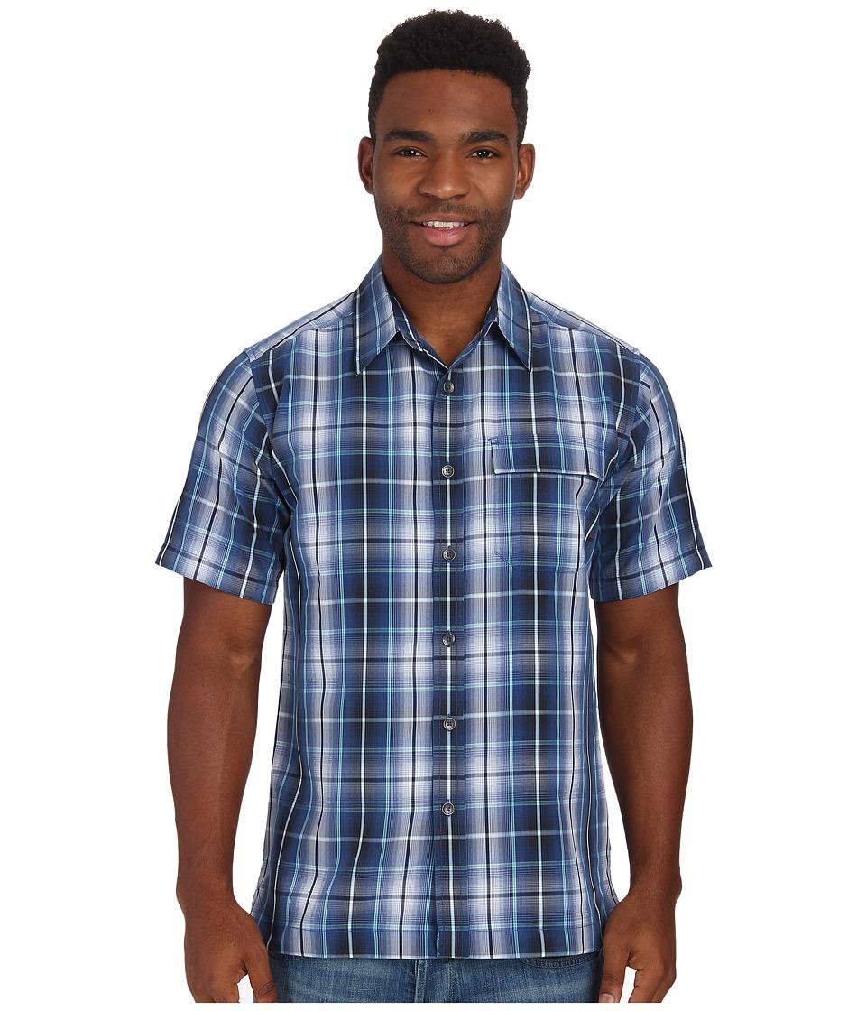 Royal Robbins - Plateau Plaid S/S (Twilight) Men's Short Sleeve Button Up