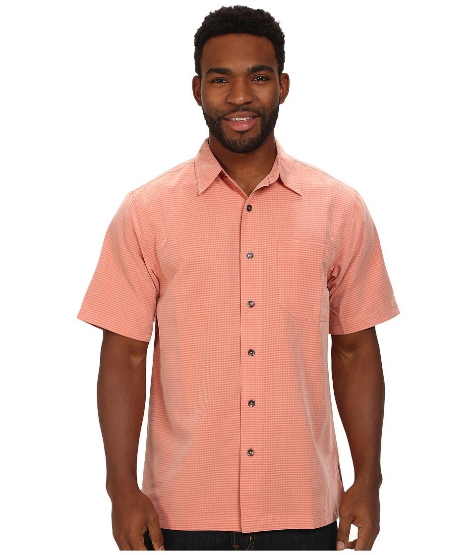 Royal Robbins - Desert Pucker S/S Shirt (Salmon) Men's Short Sleeve Button Up