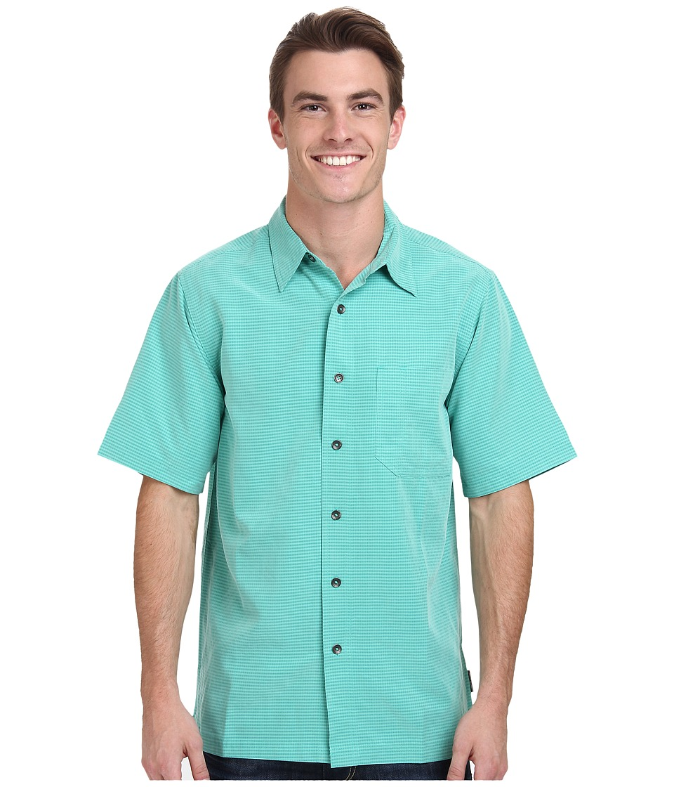 Royal Robbins - Desert Pucker S/S Shirt (Teal) Men's Short Sleeve Button Up