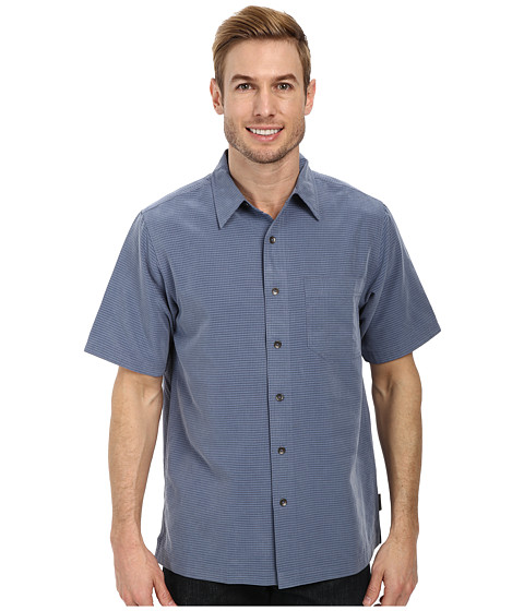 Royal Robbins - Desert Pucker S/S Shirt (Ink) Men's Short Sleeve Button Up